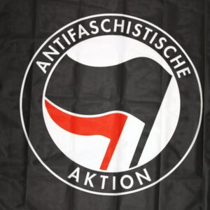 Antifaschistische Aktion Fahne (schwarz)