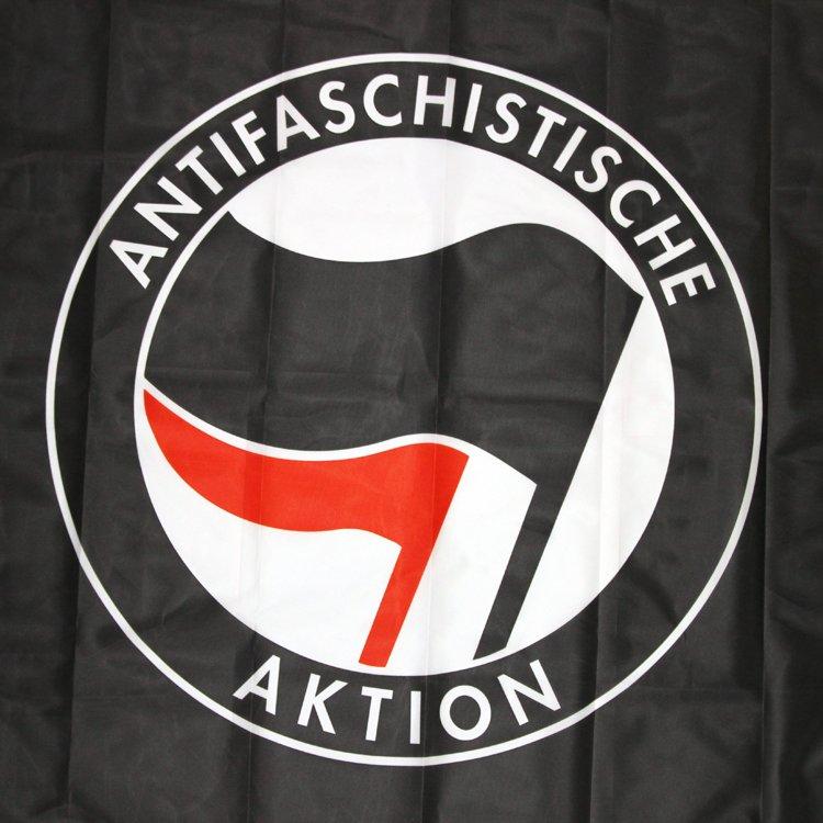 Antifaschistische Aktion Flag (black)