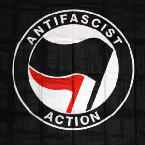 Antifascist Action Fahne (schwarz)