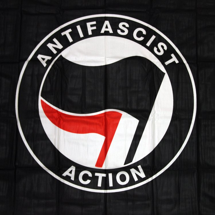 Antifascist Action Flag (black)