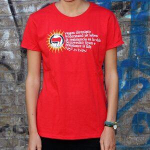 """Berxwedan"" Tailliertes Shirt (rot)"