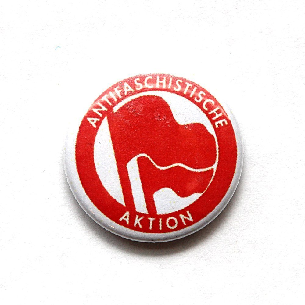 Antifaschistische Aktion – Button (red/ red)