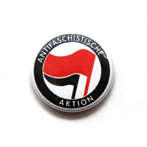 Antifaschistische Aktion – Button (rot/ schwarz)