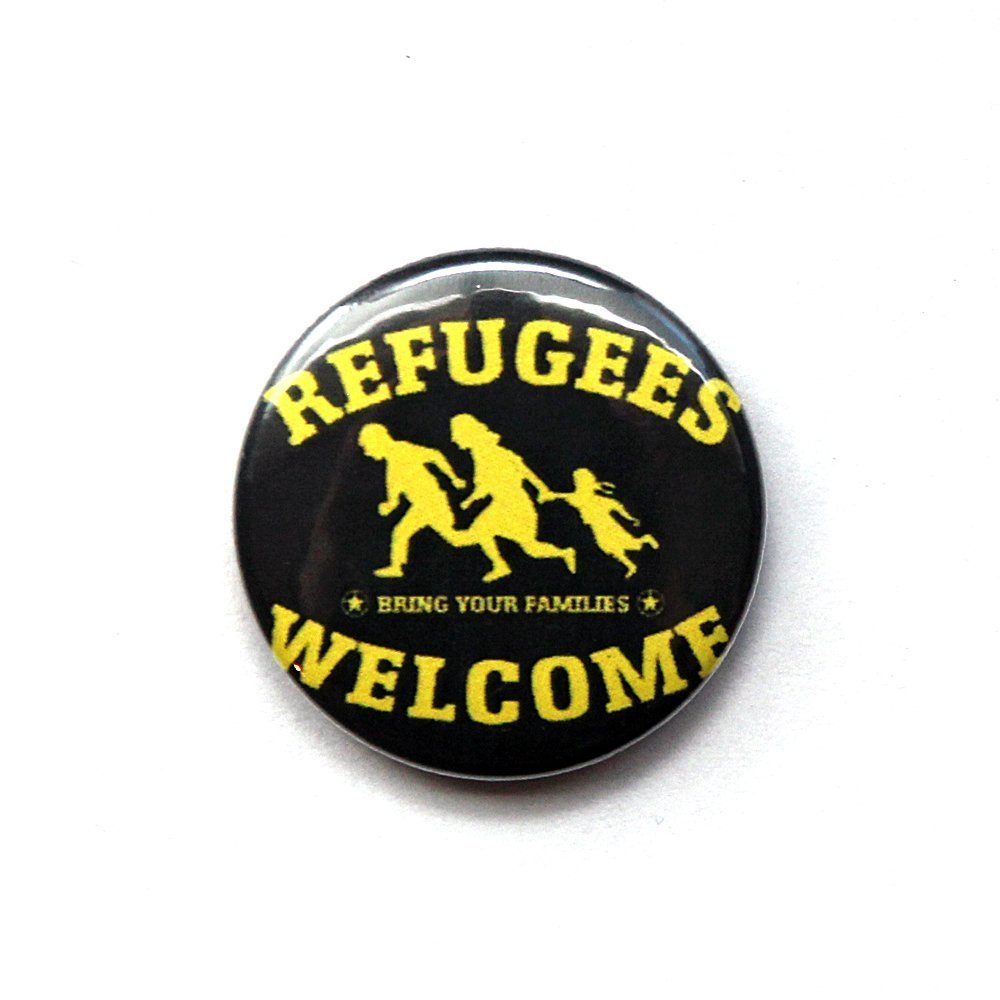 Refugees Welcome – Button