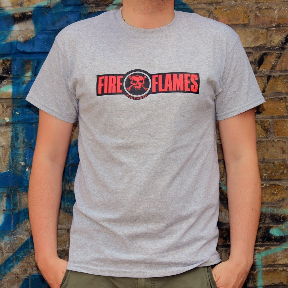 Class War T Shirt Grau Fire And Flames Music And Clothing