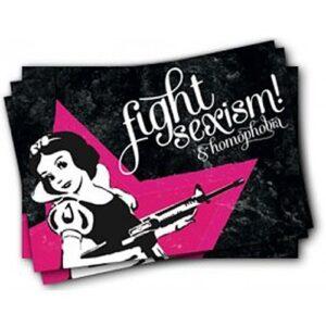 Fight Sexism & Homophobia – Sticker