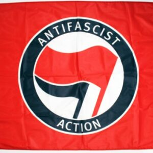 Antifascist Action Fahne (rot)