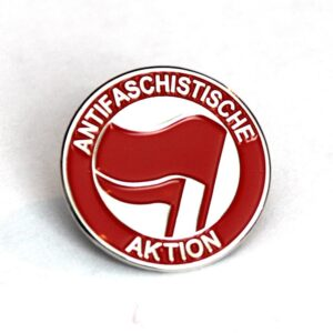 Antifaschistische Aktion – Metal Pin (rot/rot)