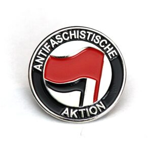 Antifaschistische Aktion – Metal Pin (rot/schwarz)
