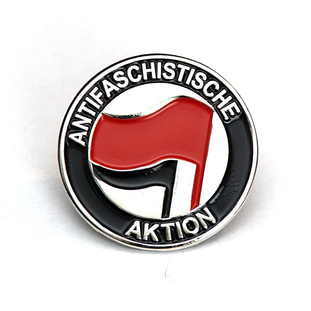 Antifaschistische Aktion – Metal Pin (red/black)