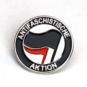 Antifaschistische Aktion – Metal Pin (schwarz/rot)