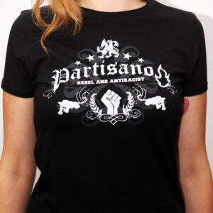 "Partisano ""Rebel and Antiracist"" Tailliertes Shirt"