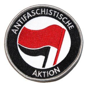 Antifaschistische Aktion – Aufnäher (rot/schwarz)