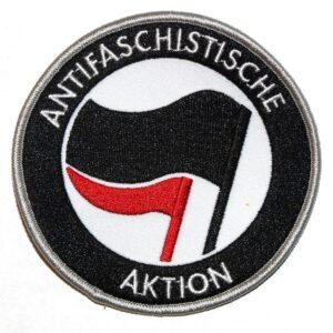 Antifaschistische Aktion – Aufnäher (schwarz/rot)