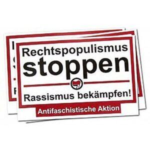 Rechtspopulismus stoppen – Sticker