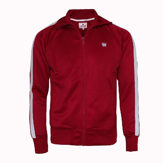 "Kings League ""Track Jacket"" (bordeaux/white)"
