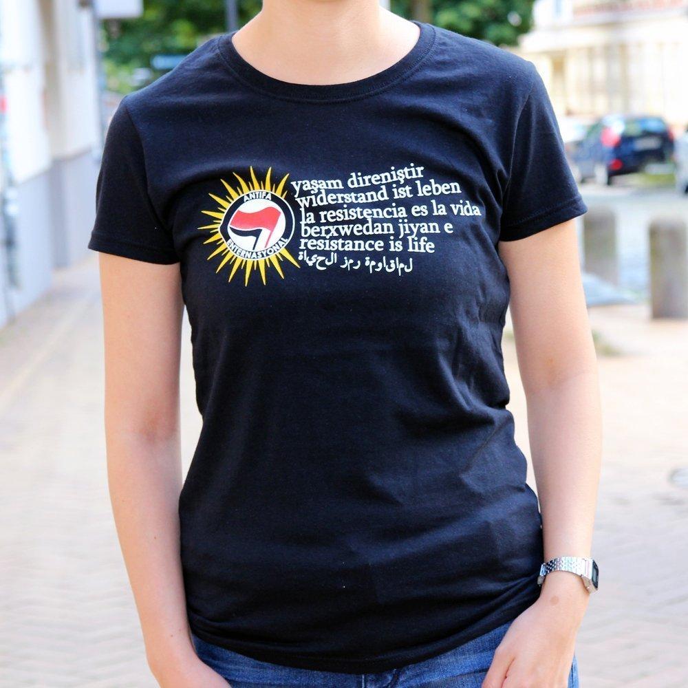 """""""Berxwedan"""" Ladies Shirt (black)"""