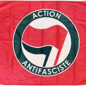 Action Antifasciste Fahne (rot)