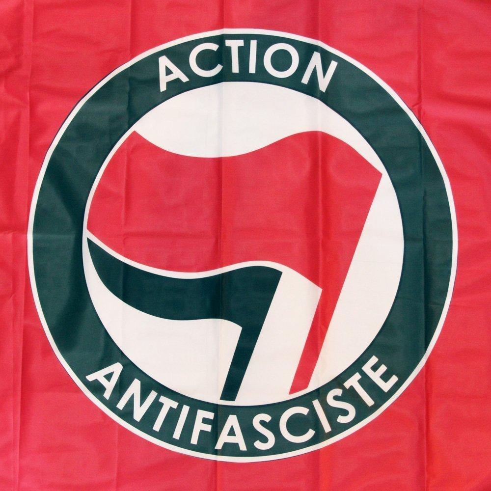 Action Antifasciste Flag (red)