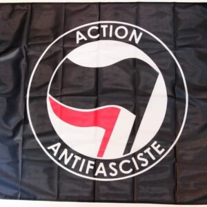 Action Antifasciste Fahne (schwarz)