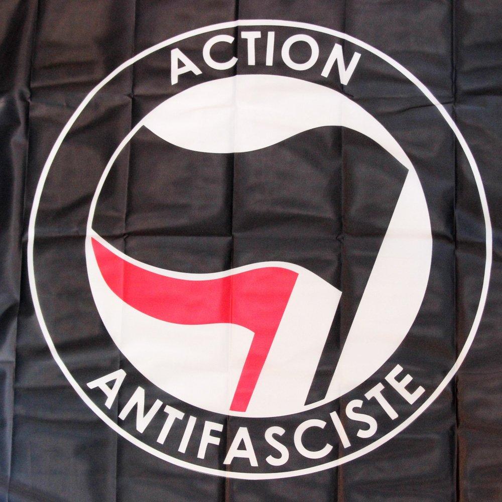 Action Antifasciste Flag (black)