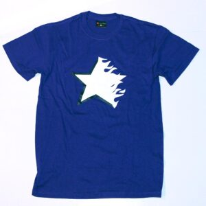 """Flaming Star"" Shirt (purple)"