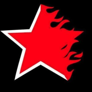 """Flaming Star"" T-Shirt (schwarz)"