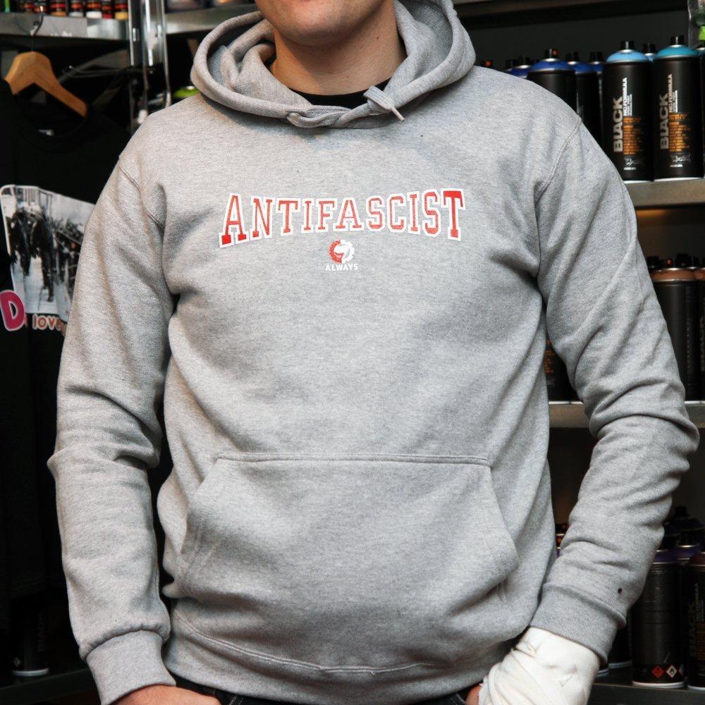 """""""Antifa Always"""" Hoodie (grey)"""