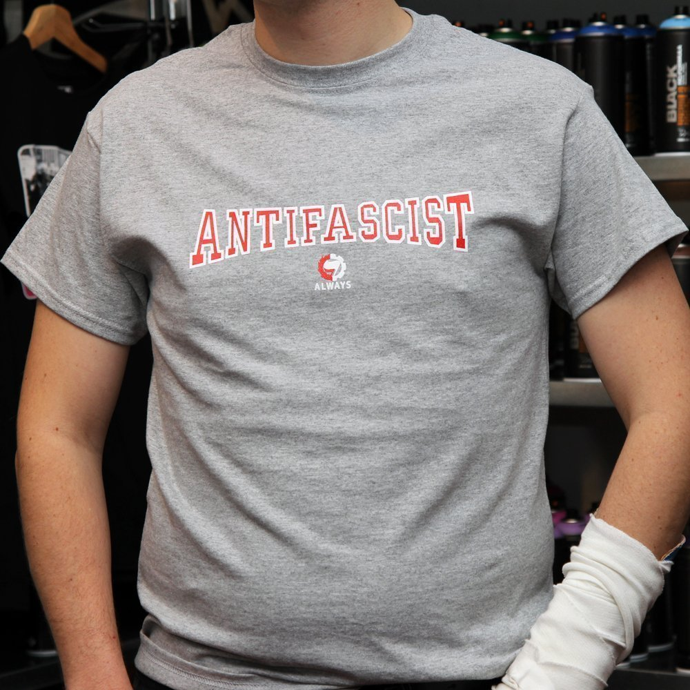 """Antifa Always"" Shirt (grey)"
