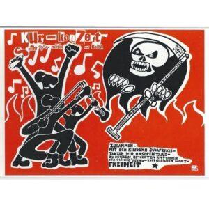 Kunst und Kampf – Kurkonzert Postkarte