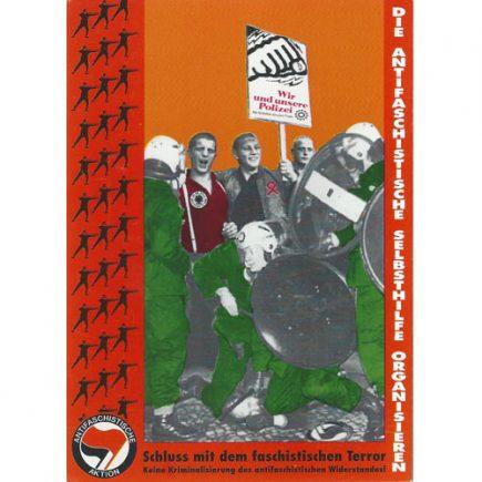 kunstundkampf-schlußmitdemfaschistischenterror-postkarte
