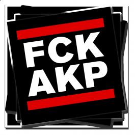 FCK AKP – Sticker