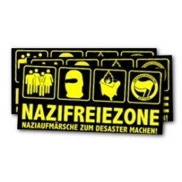 Nazifreiezone – Naziaufmärsche zum Desaster machen! – Sticker