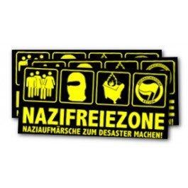 Nazifreiezone – Naziaufmärsche zum Desaster machen! – Stickers