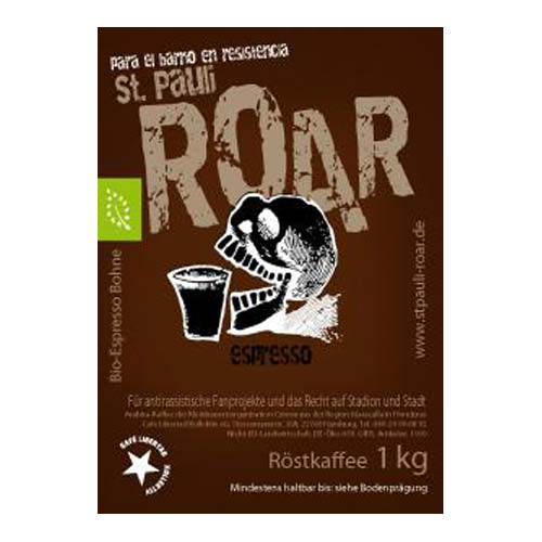 Bio-Espresso St. Pauli »Roar« 1 kg beans