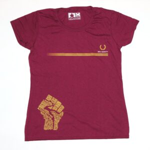 """Solidarity"" Tailliertes Shirt (bordeaux)"