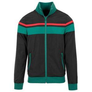 """Urban Classics """"Nylon 3-Tone Jacket"""" (Schwarz/Grün/Rot)"""