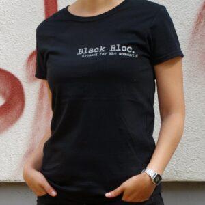 """""""Black Bloc"""" Tailliertes Shirt (schwarz)"""