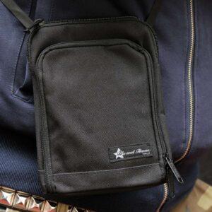 "Shoulder Bag ""Red Heat"" (schwarz)"