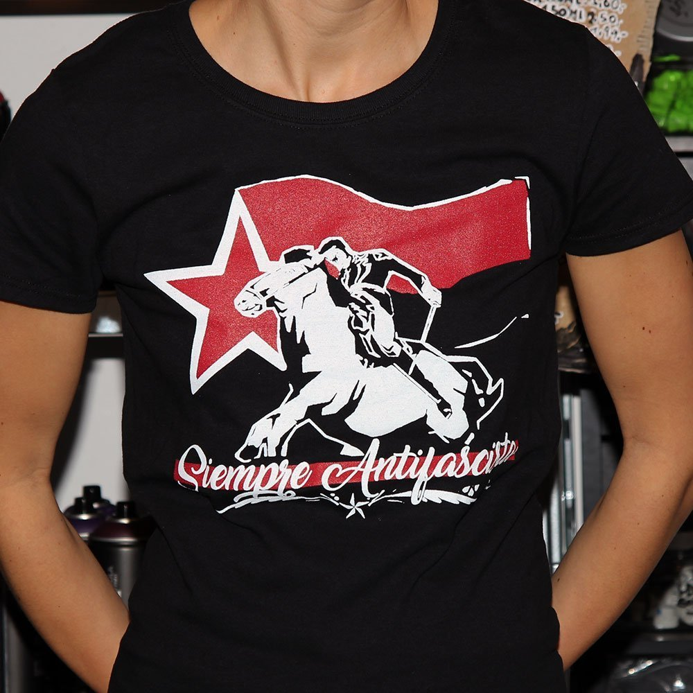 """Siempre Antifascista"" Ladies Shirt"