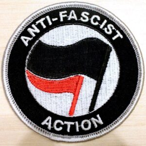 Anti-Fascist Action – Aufnäher (schwarz/rot)