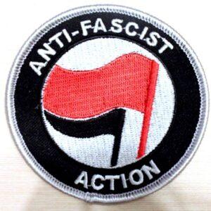 Anti-Facsist Action – Aufnäher (rot/schwarz)