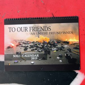 "Soli-Kalender ""To Our Friends – An unsere Freund*innen"" 2019"