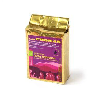 Bio-Espresso Las Chonas mild roast 250g ground