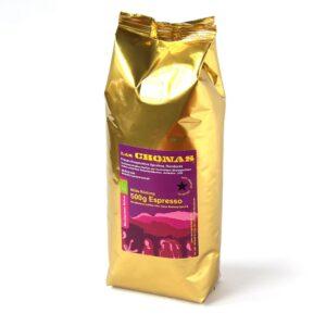 Bio-Espresso Las Chonas milde Röst. 500g ganze Bohne
