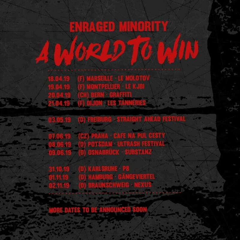 Enraged Minority – A World To Win Tour 2019
